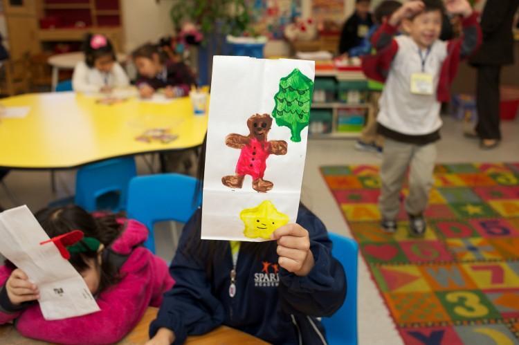 Kindergarten student artwork