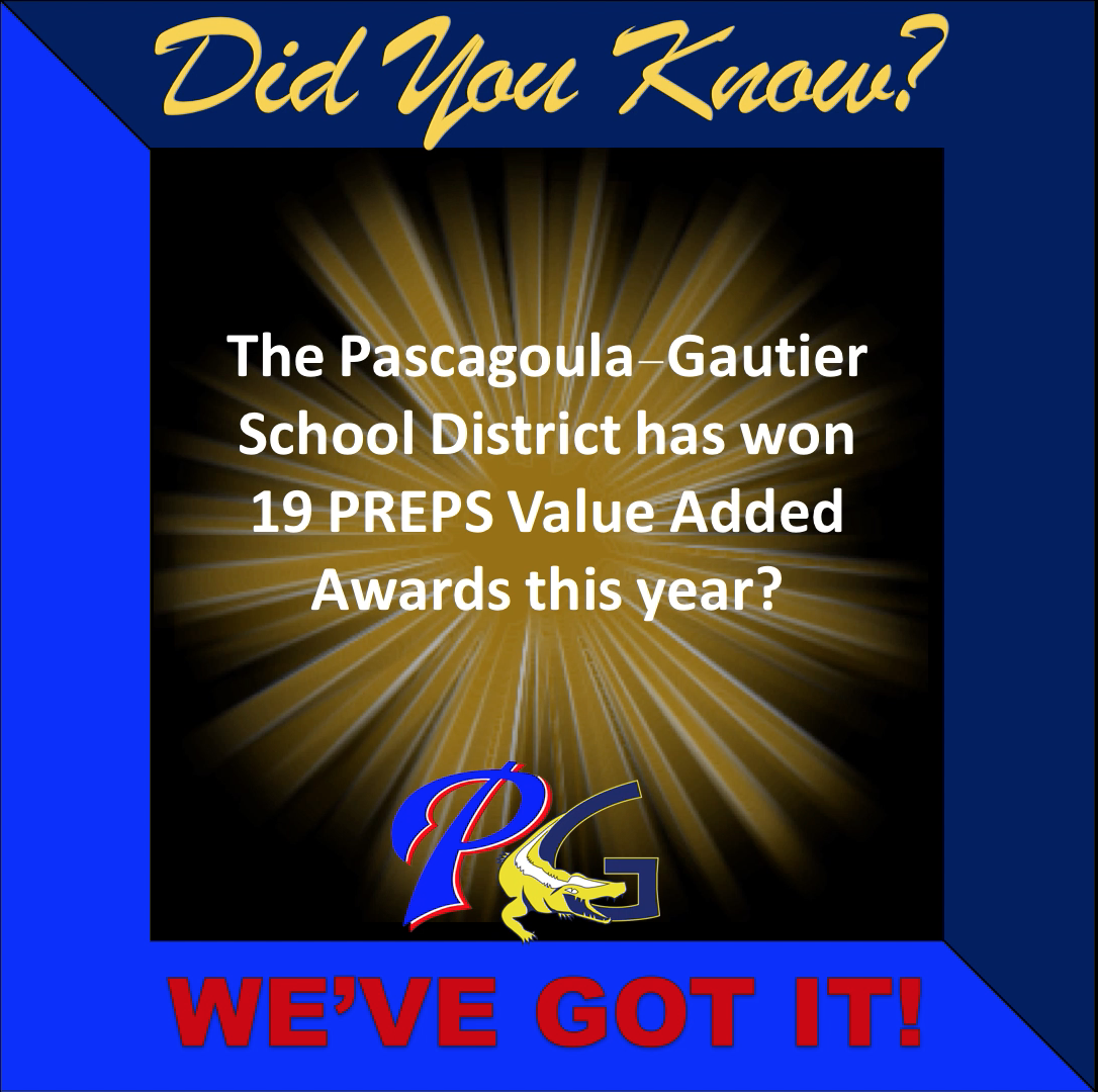 Did you know PGSD has won 19 PREPS Value Added Awards this year