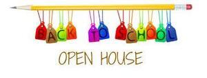 Open House Clip Art Image