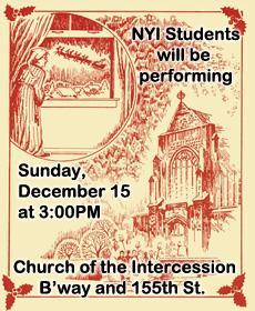 Church of the Intercession Moore poem reading with student performances, December 15, 2019, read by Kathy Tong.  December 15, 2019 at 3:00PM 109th Annual Clement Clark Moore Candlelight Service Reader: Kaity Tong, WPIX11 New Anchor