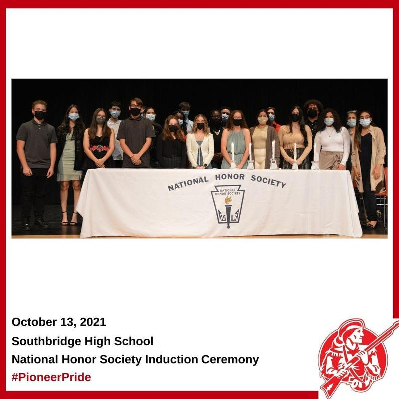 Photo of the new members of the Southbridge High School National Honor Society