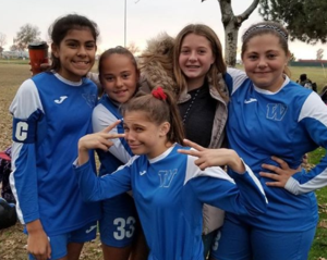 WMS varsity girls soccer league championship game