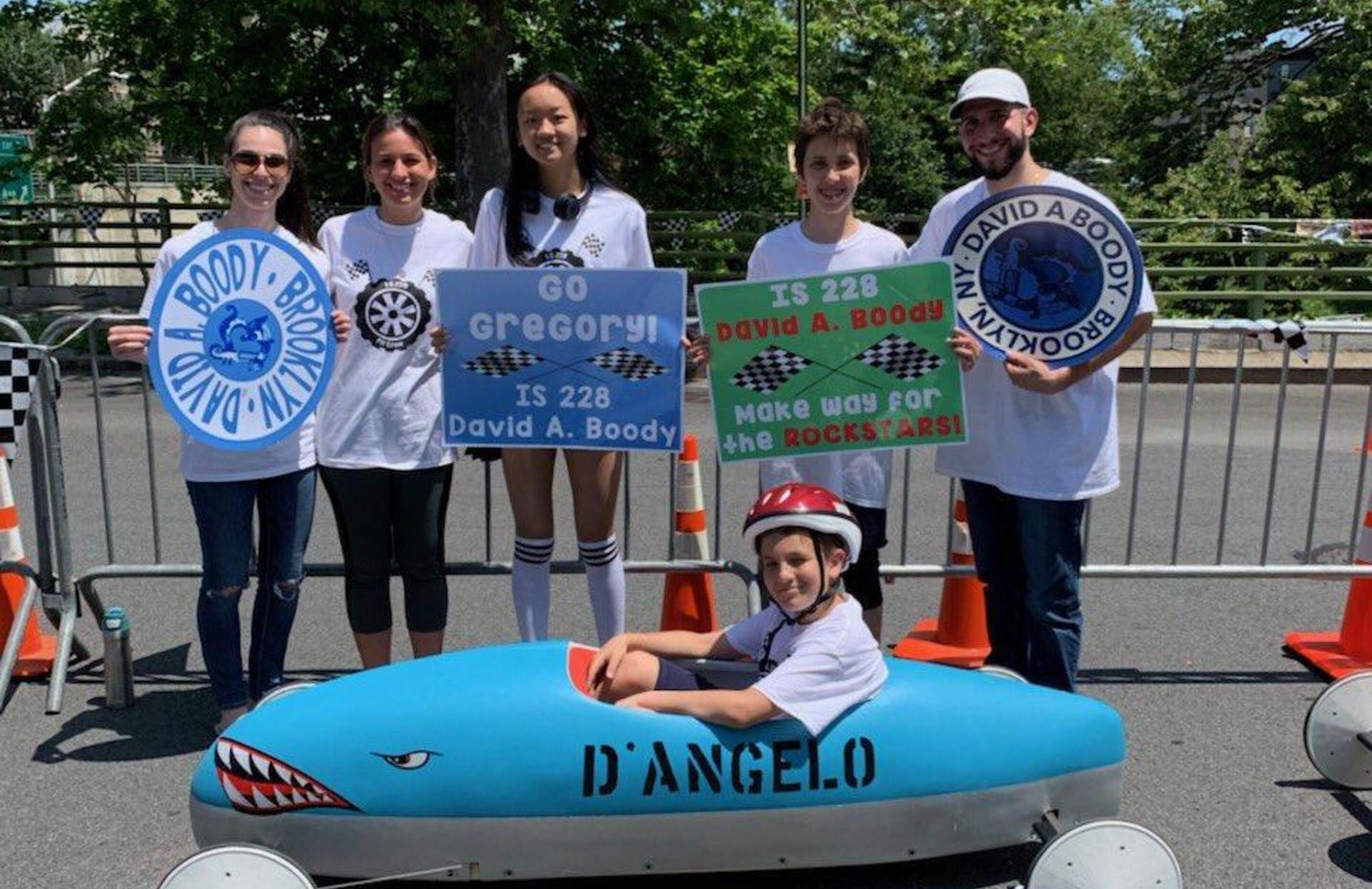 DAB students at the Soap Box Derby