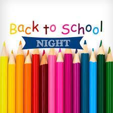 Back to School Night Information Thumbnail Image
