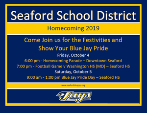 Seaford Homecoming Weekend 2019.png