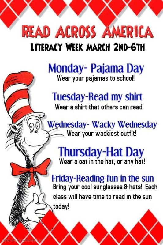 Dr. Seuss Read Across America description of activities in English