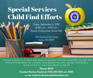 Special Services Child Find Program