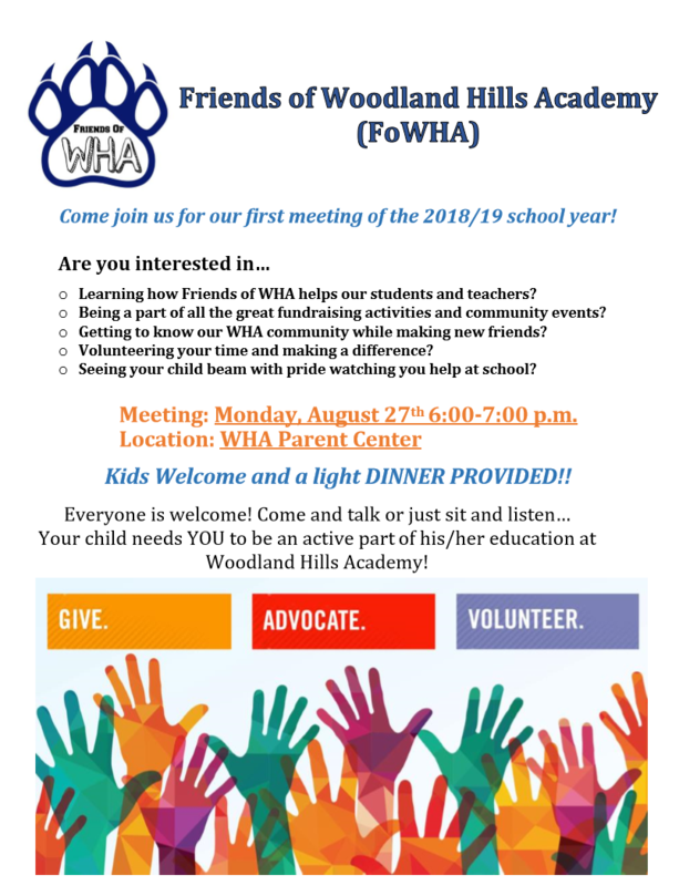 Friends of WHA - First Meeting of 2018/19 Thumbnail Image