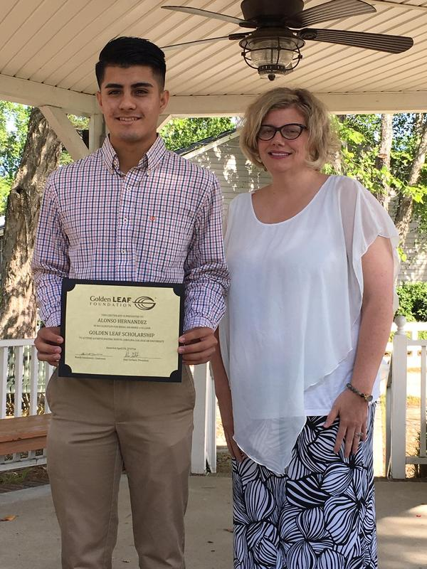 Alonso Hernandez, Class of 2019, participates in Golden Leaf Scholars Leadership Program Featured Photo