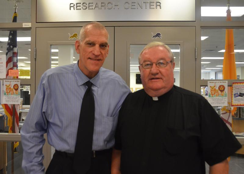 Hugh Albora and Father McHugh