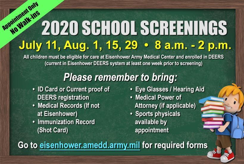 2020 School Screenings