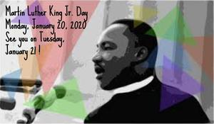 Martin Luther King Jr.  and triangles