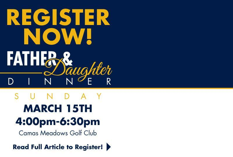 Registration is now open for our Annual Father & Daughter Dinner! Featured Photo