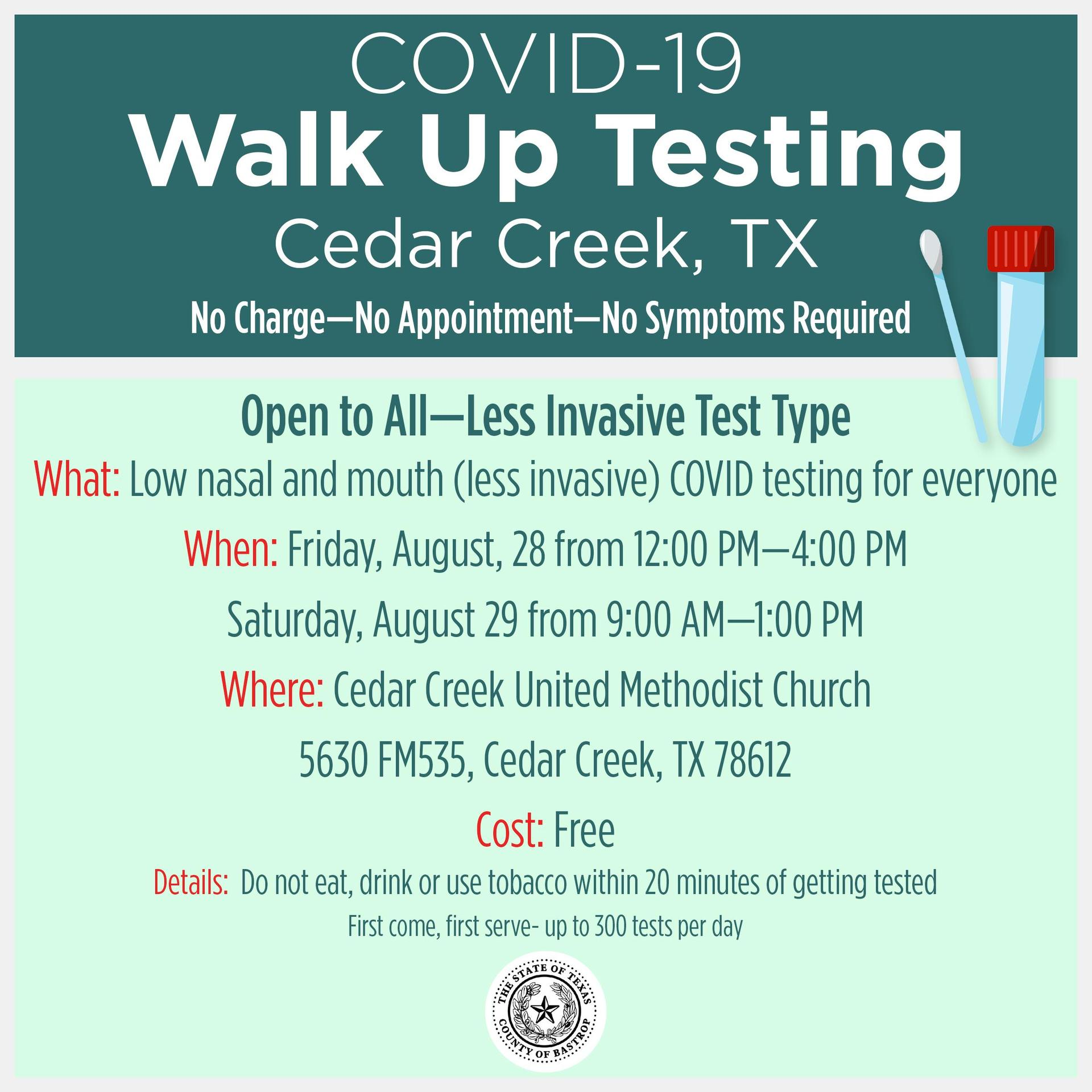Walk-up Testing for COVID-19