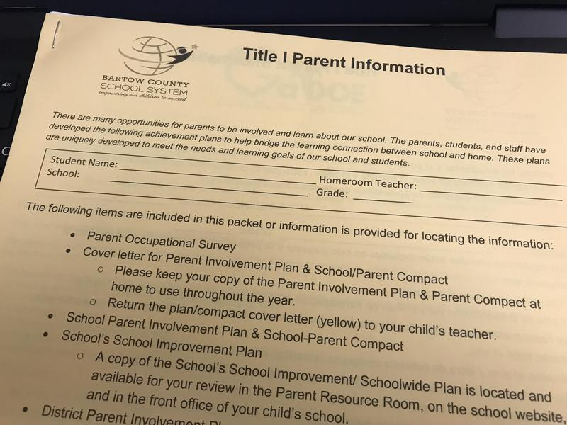 Title I Parent Information Packet Featured Photo