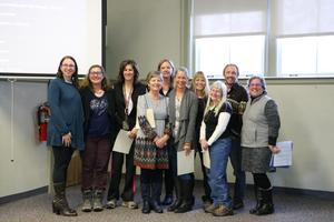Board member and staff from February meeting.
