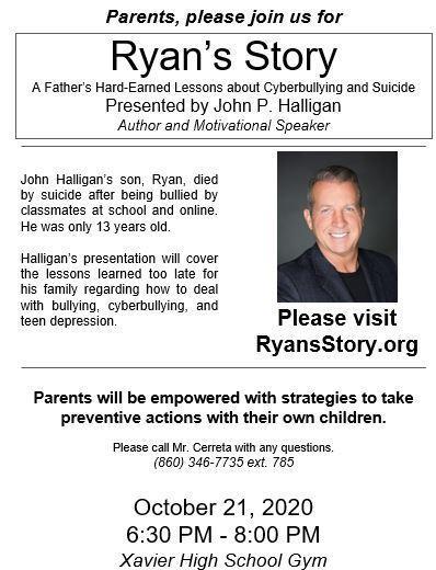 John Halligan anti-bullying presentation 2020