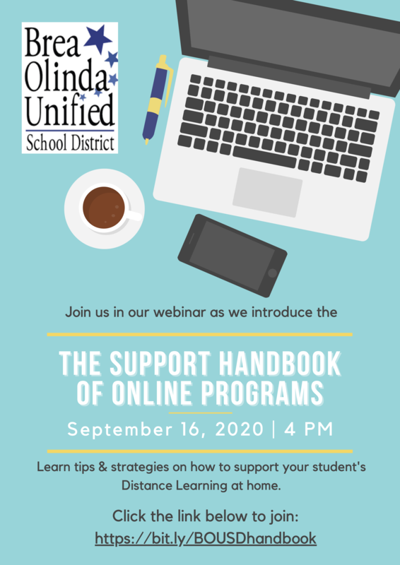 Support Handbook of Online Programs