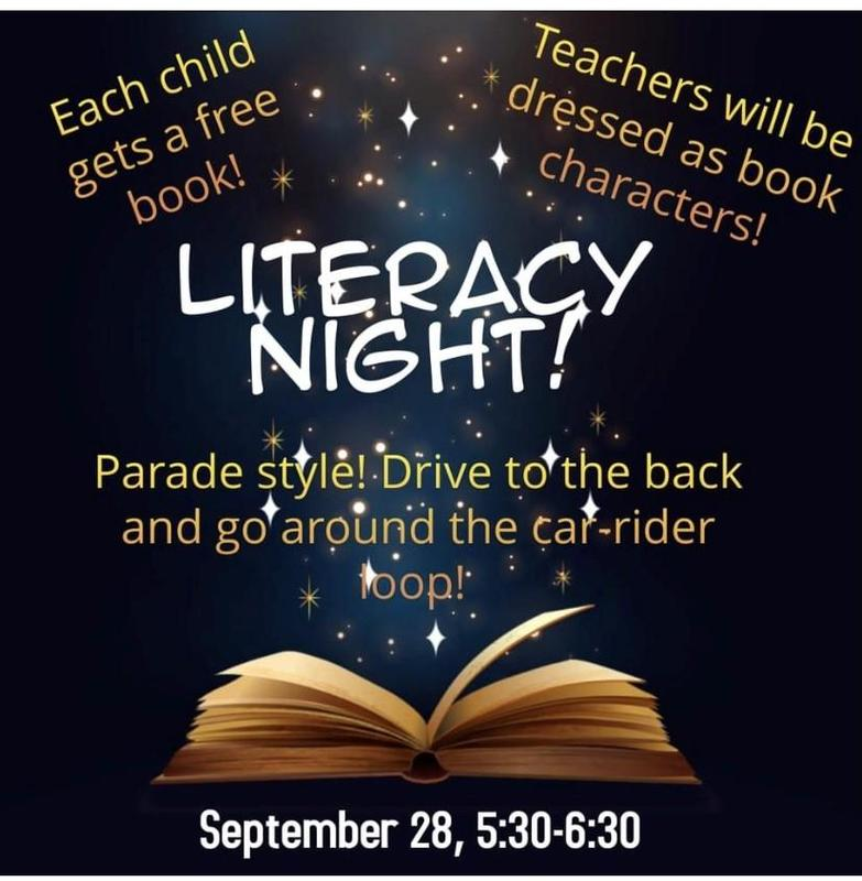 Join us for our Literacy Night Parade!    September 28 5:30-6:30 Featured Photo