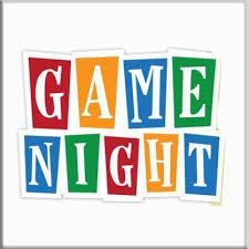 the word GAME NIGHT spelled out in different color letters