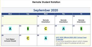ABC Schedule Rotation Calendar for September and October Featured Photo