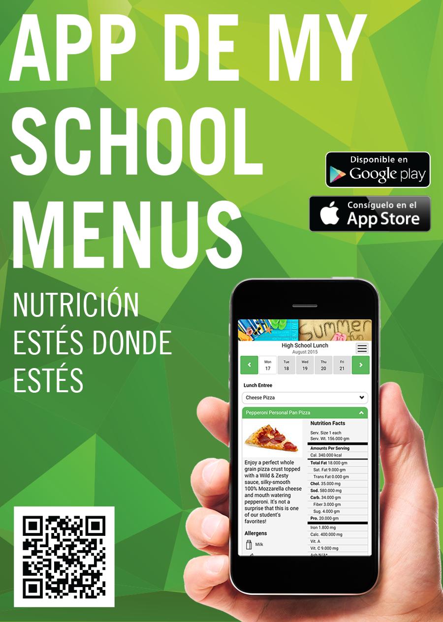 Menu App Spanish graphic