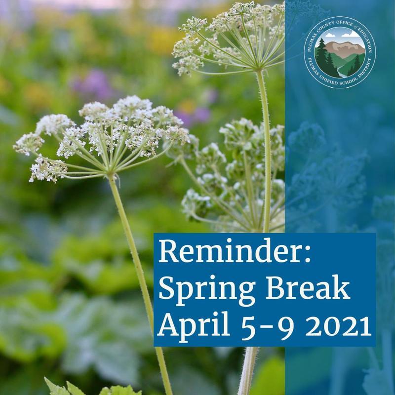 Spring Break is April 5-9