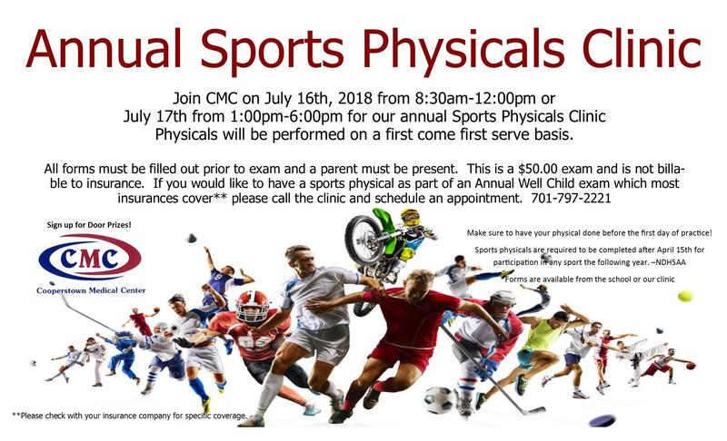 Annual Sport Physicals Clinic Featured Photo