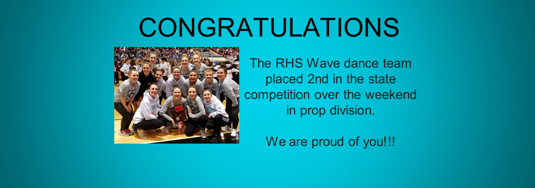 Wave Dance Team award