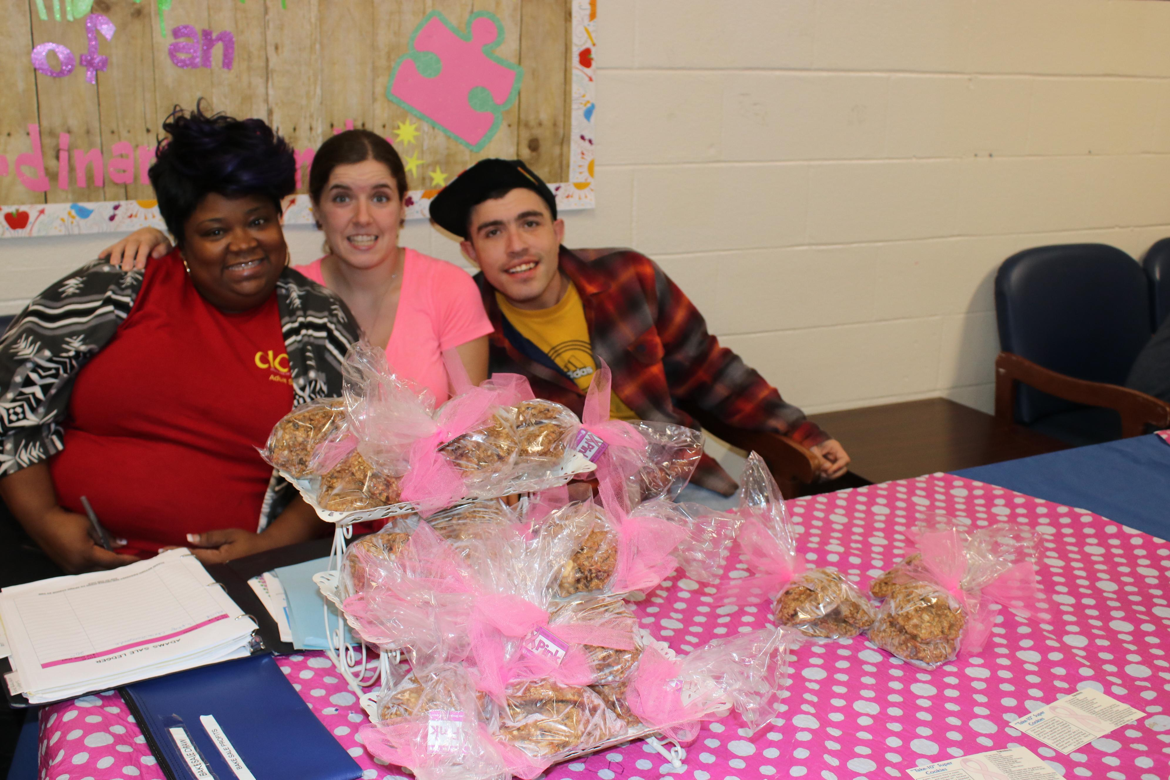 Group at breast cancer bake sale