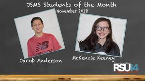 JSMS Students of the Month November