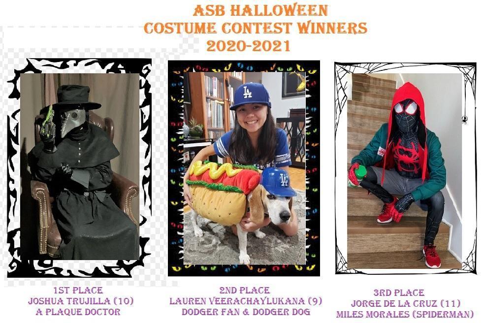 ASB Halloween Costume Winners 20-21