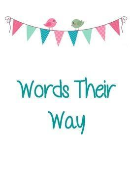 Words Their Way Picture Heading