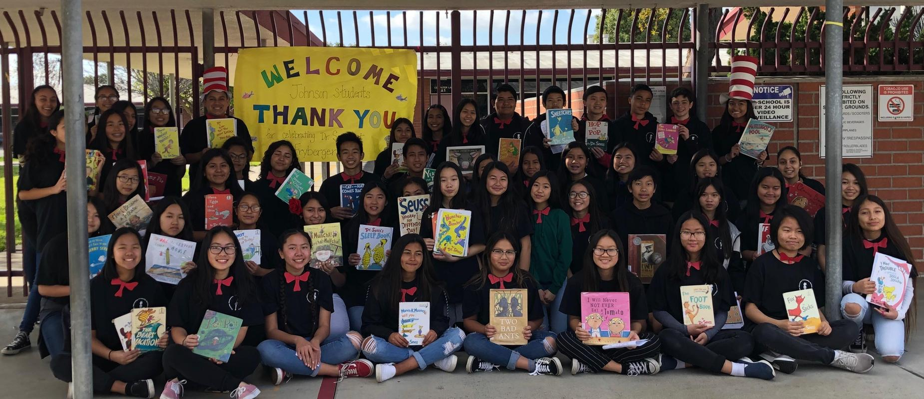 National Junior Honor Society goes to Fryberger to celebrate Read Across America