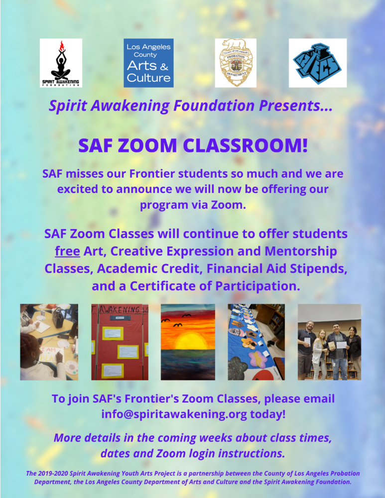 Student Wellness continues with SAF using Zoom