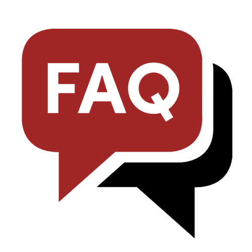 image of the word faq in a word bubble