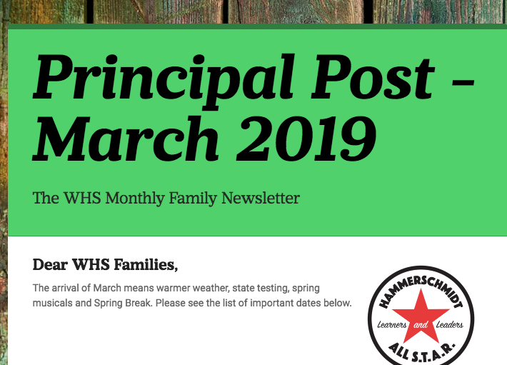 March 2019 Principal Post Newsletter Thumbnail Image