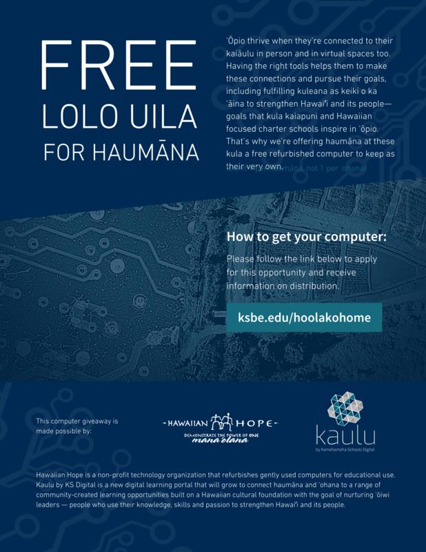 Flyer for free Lolo uila for Haumana