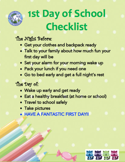 First Day of School Checklist Featured Photo