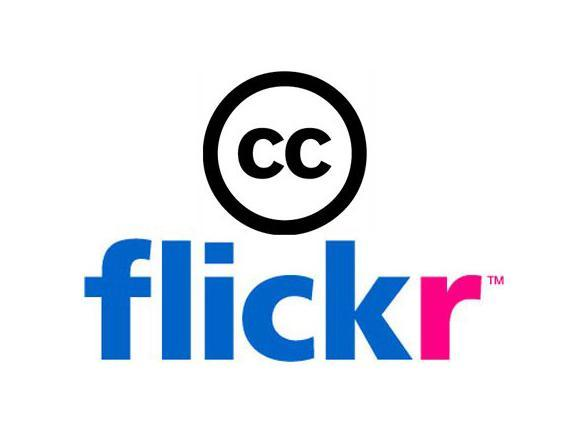 Flickr logo with the Creative Commons logo on top