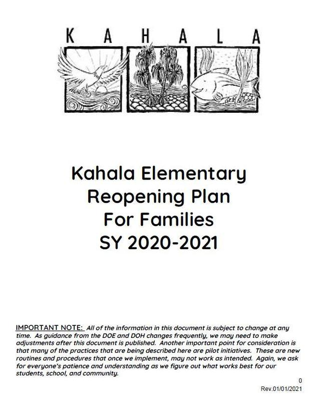 Reopening Plan for Families 1-1-21