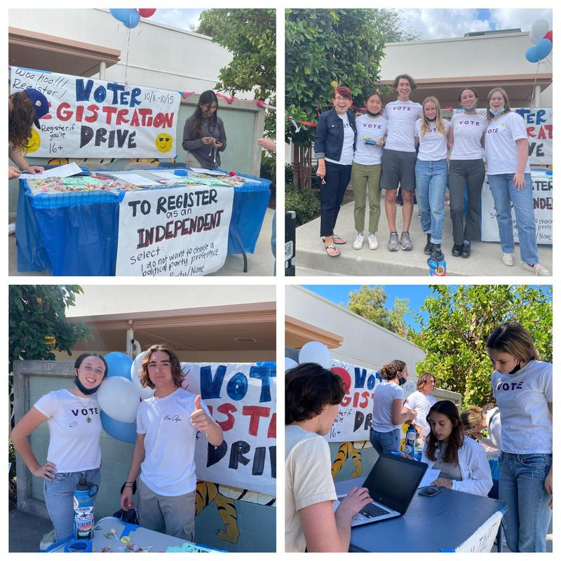 Scenes from the student voter registration drive