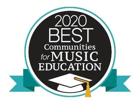 This is an image of a logo for the NAMM Foundation's 2020 Best Communities for Music Education