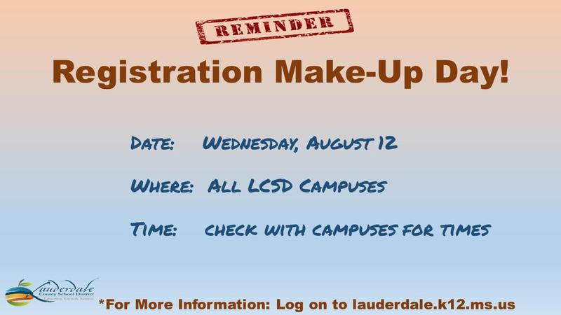 Registration Make-Up Day Graphic