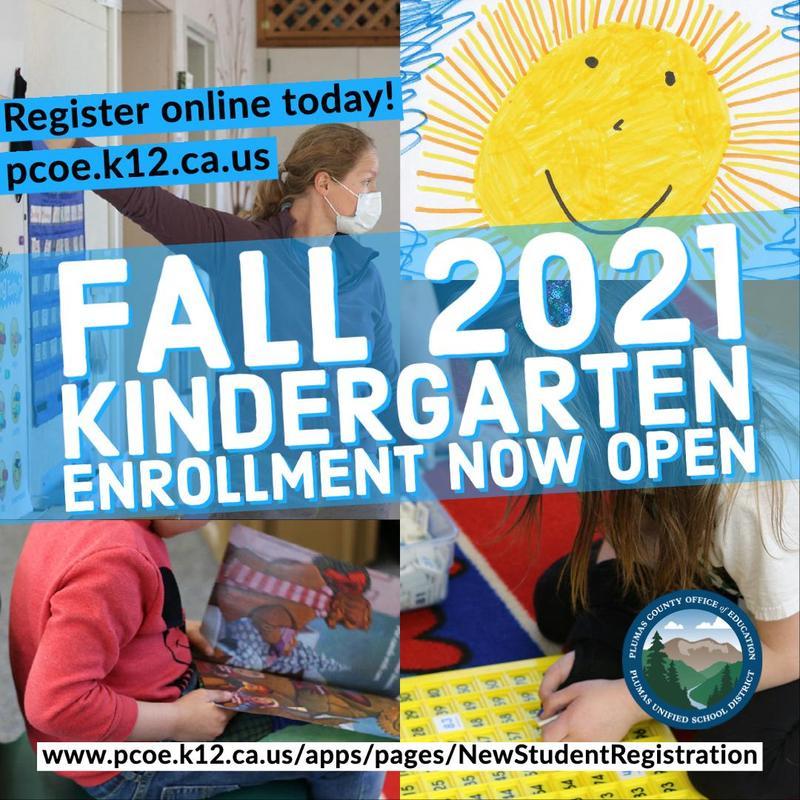 Fall 2021 Kindergarten Enrollment now open