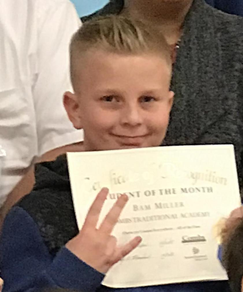 Bam Miller - December Student of the Month