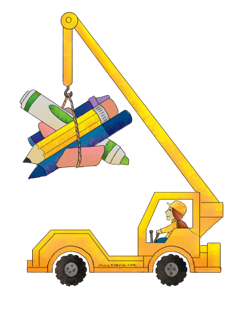 clipart of construction vehicle