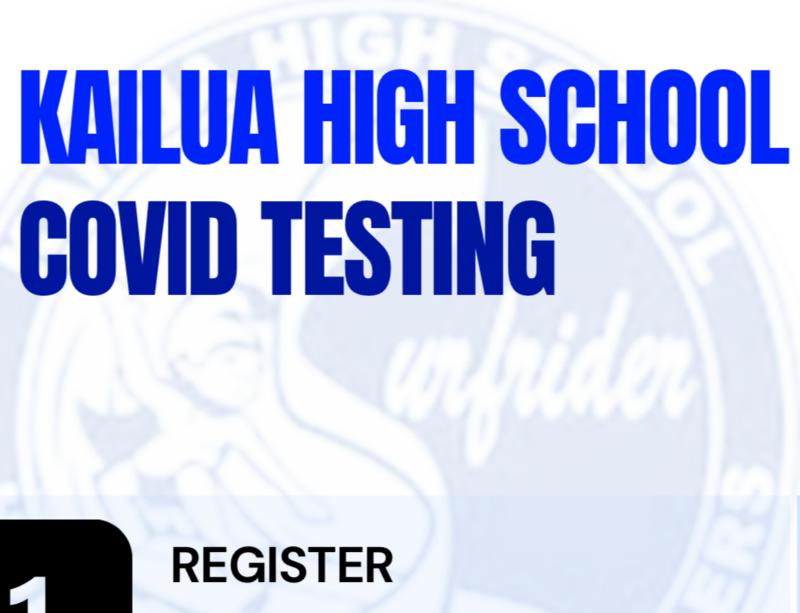 Kailua High COVID Testing Flyer Title