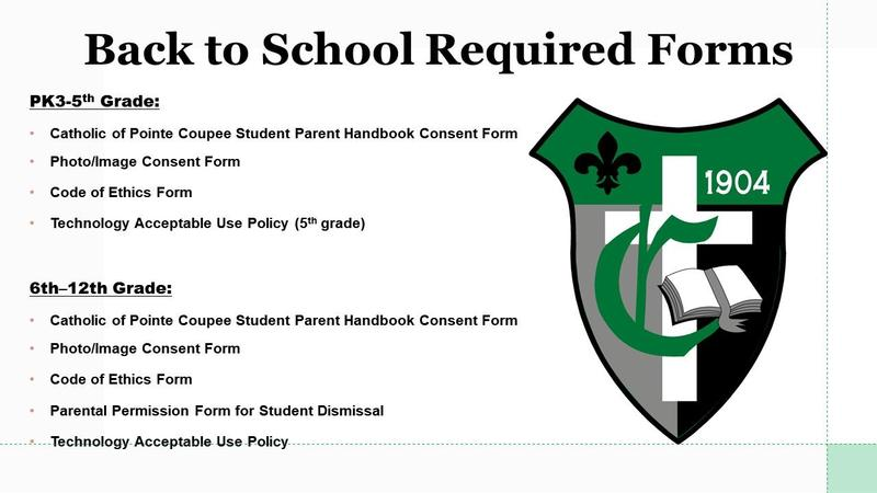 BACK TO SCHOOL REQUIRED FORMS Featured Photo