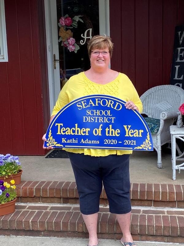 Mrs. Kathi Adams Named 2021 Seaford School District Teacher of the Year!! Featured Photo